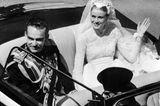 Grace Kelly mit Fürst Rainier im Auto