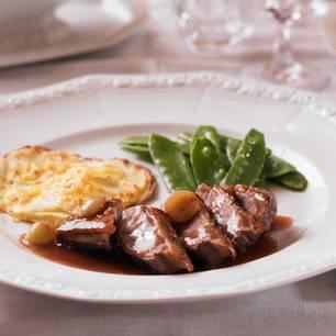 Hausmannskost: Entenbrust in Rotweinsoße
