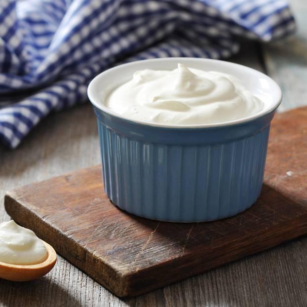 Griechischer Joghurt in einer Schüssel