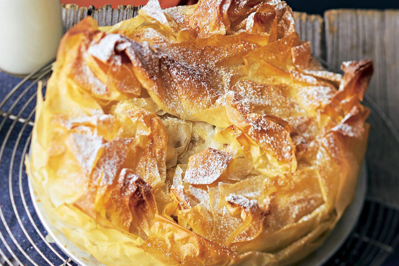 Apfel Filoteig Kuchen