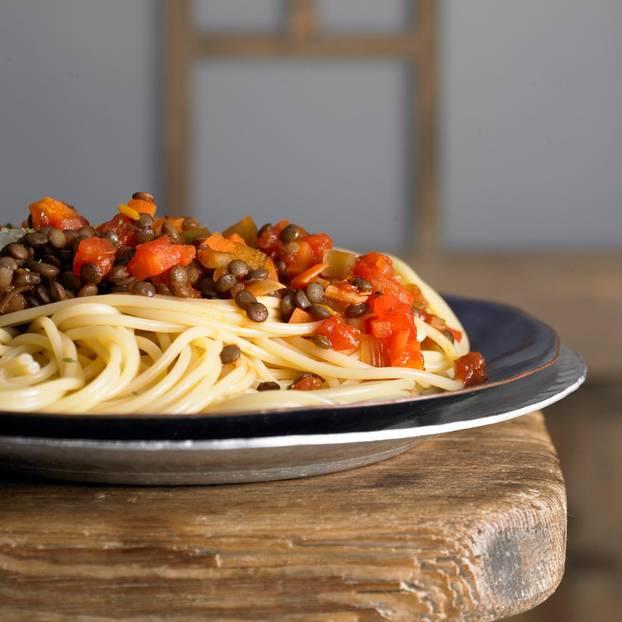 Spaghetti mit Linsenbolognese