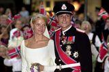 Mette-Marit und Prinz Haakon auf ihrer Hochzeit