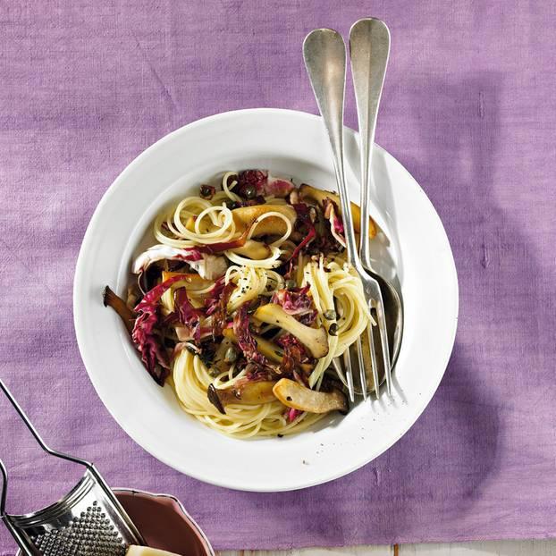 Spaghettini mit Kräuterseitlingen
