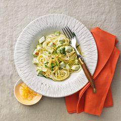 Spaghetti mit Avocado-Zitronen-Soße