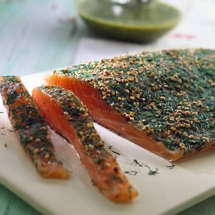Graved Lachs mit Senf-Dill-Soße