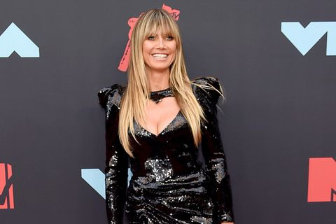 Heidi Klum auf dem Red Carpet der VMA