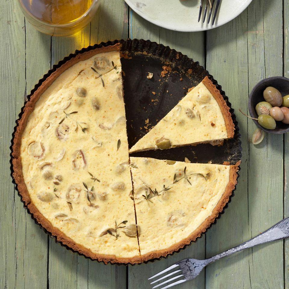 Oliven-Ricotta-Tarte