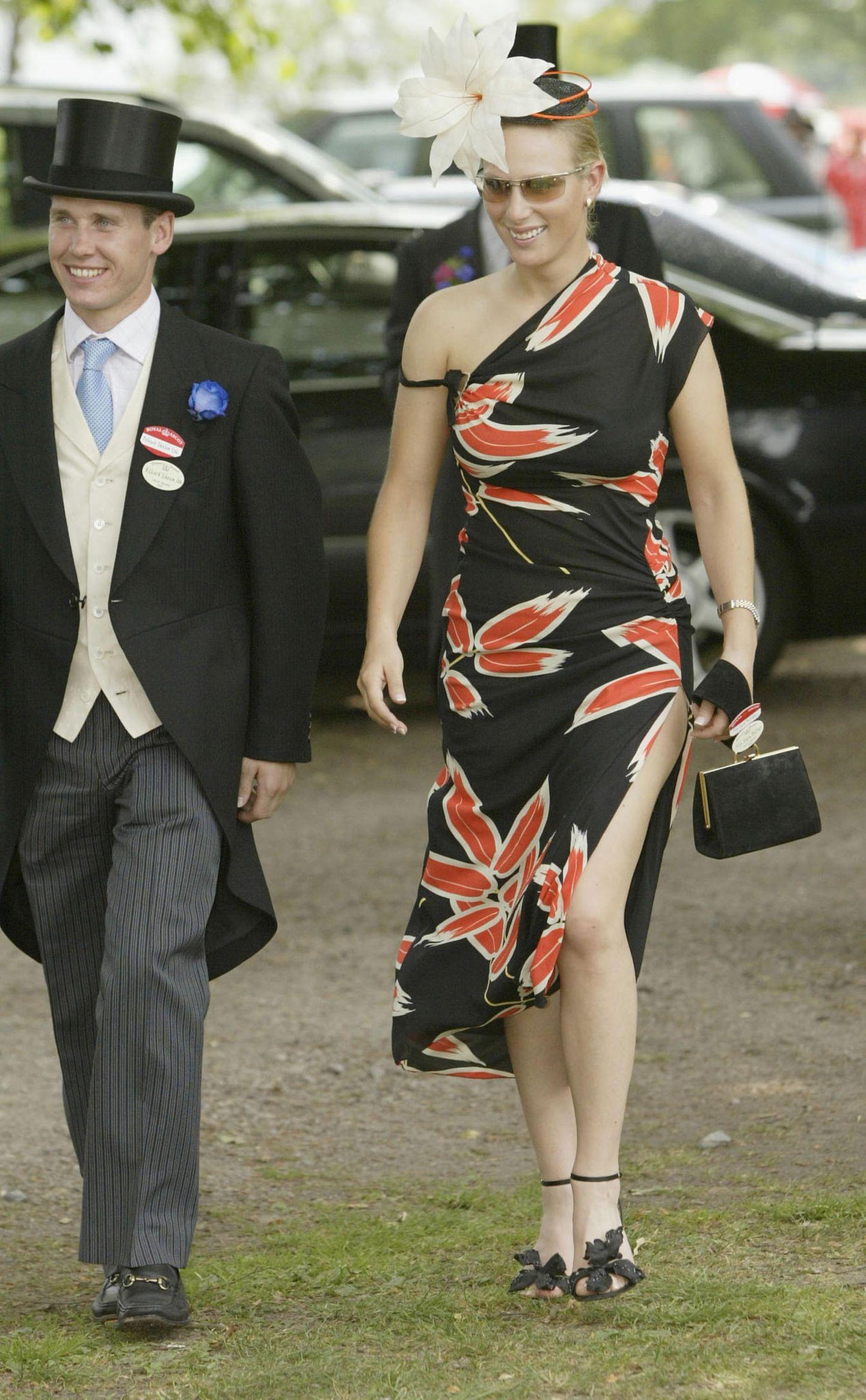 Skandalkleider der Royals: Zara Phillips mit Freund und Hut