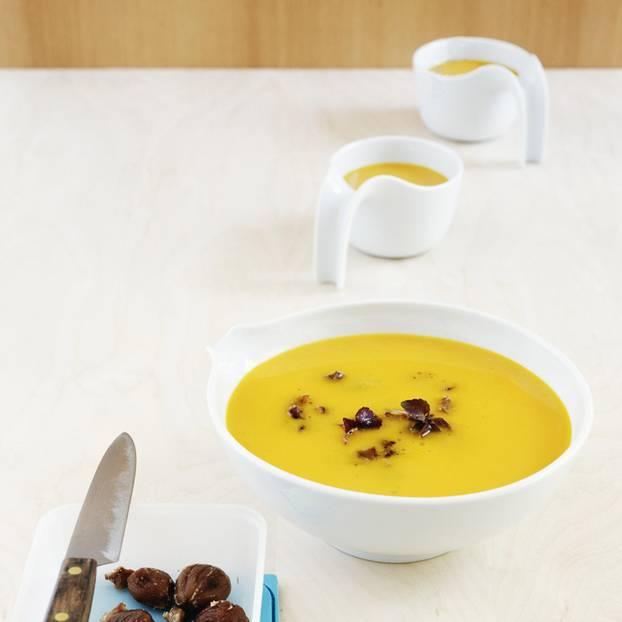 Kürbissuppe mit Maronen