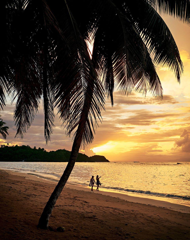 Dominikanische Republik: Sonnenuntergang am Strand