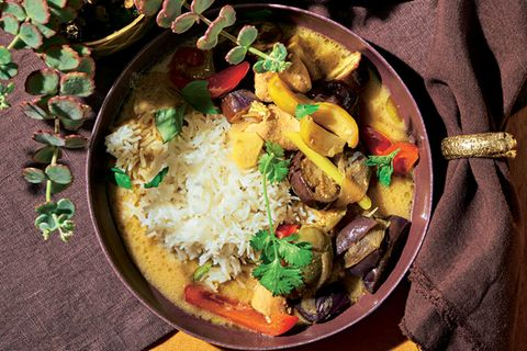 Hähnchen-Auberginen-Curry