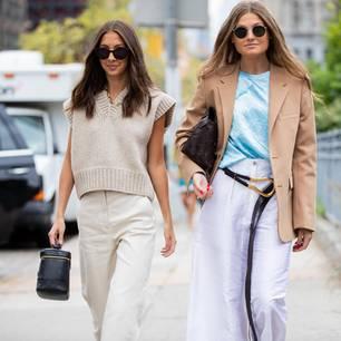 New York Fashion Week 2019: zwei Frauen auf der Strasse