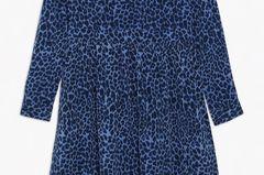 Kleid mit Leo-Muster in dunkelblau