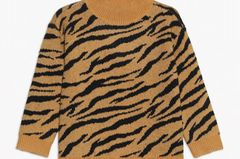Strickpullover mit Tigermuster