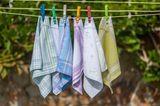 Umweltbewusst leben: Taschentücher auf der Leine