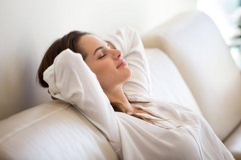 Power-Nap: Schlafende Frau