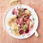 Saibling mit Rote-Bete-Gurken-Salat