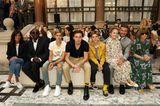 Style-Twins: Familie Beckham sitzt in der Front Row