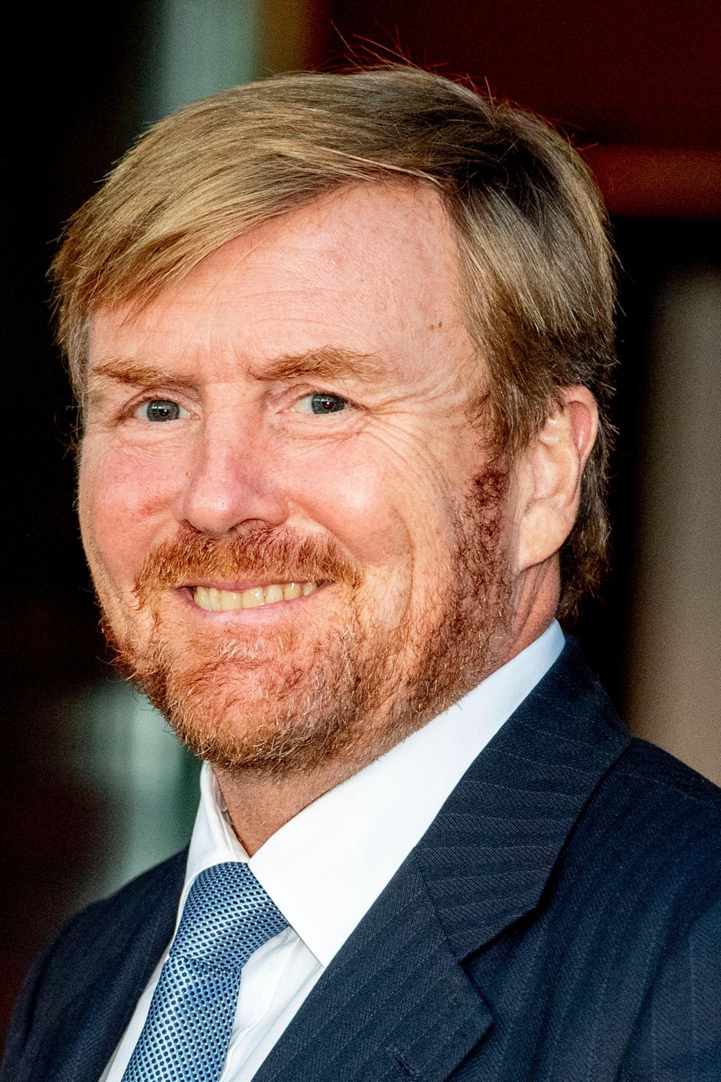 Promis mit und ohne Bart: König Willem-Alexander mit Bart
