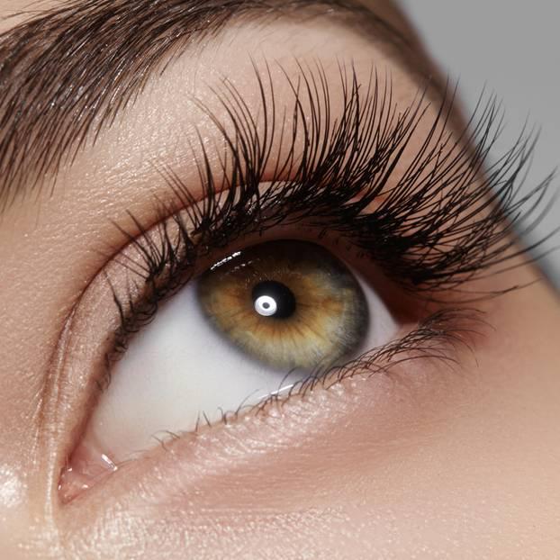Mascara: Auge in Nahaufnahme