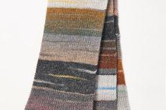 BRIGITTE Wollpakete 2019: Großer Multicolorschal