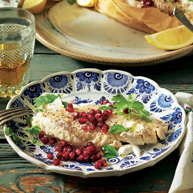Fisch mit Gewürzen (Tevzi Chmeli Suneli)