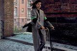 Marie Nasemann engagiert sich für nachhaltige Mode: Marie Nasemann in karriertem Hosenanzug