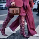 Streetstyle: zwei lila Looks
