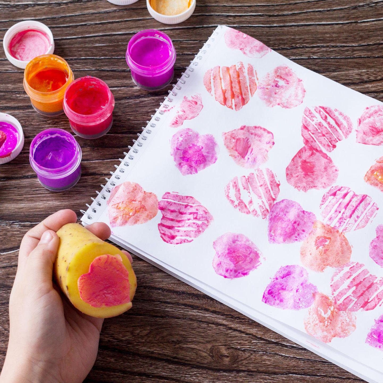 Malen mit Kindern: Kartoffeldruck