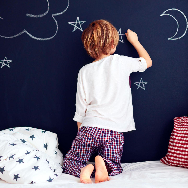 Malen mit Kindern: bemalte Tafel