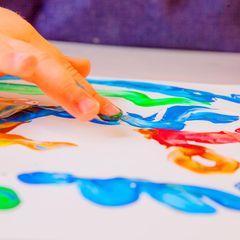 Malen mit Kindern: Fingerfarben