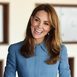 Herzogin Kate: Catherine in einem blauen Kleid