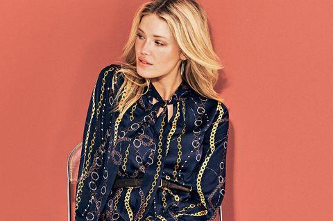 Tragbare Laufsteg-Trends: Die schönsten Looks: Blaues Kleid
