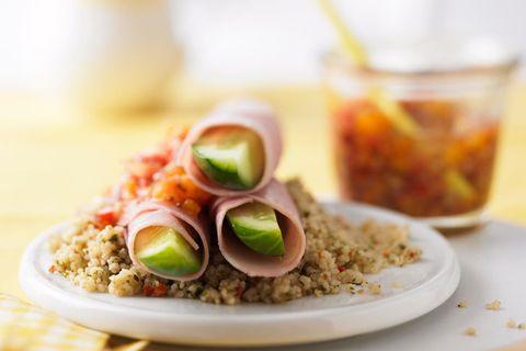 Gurkensticks mit Aprikosen-Chutney