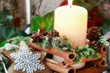 Bastelideen Weihnachten: Kerzenhalter aus Zimtstangen