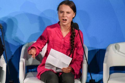 Greta Thunberg beim Weltklimagipfel in New York