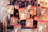 Bastelideen Weihnachten: Adventskalender aus Papiertüten