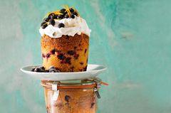 Johannisbeer-Orangen-Kuchen im Glas