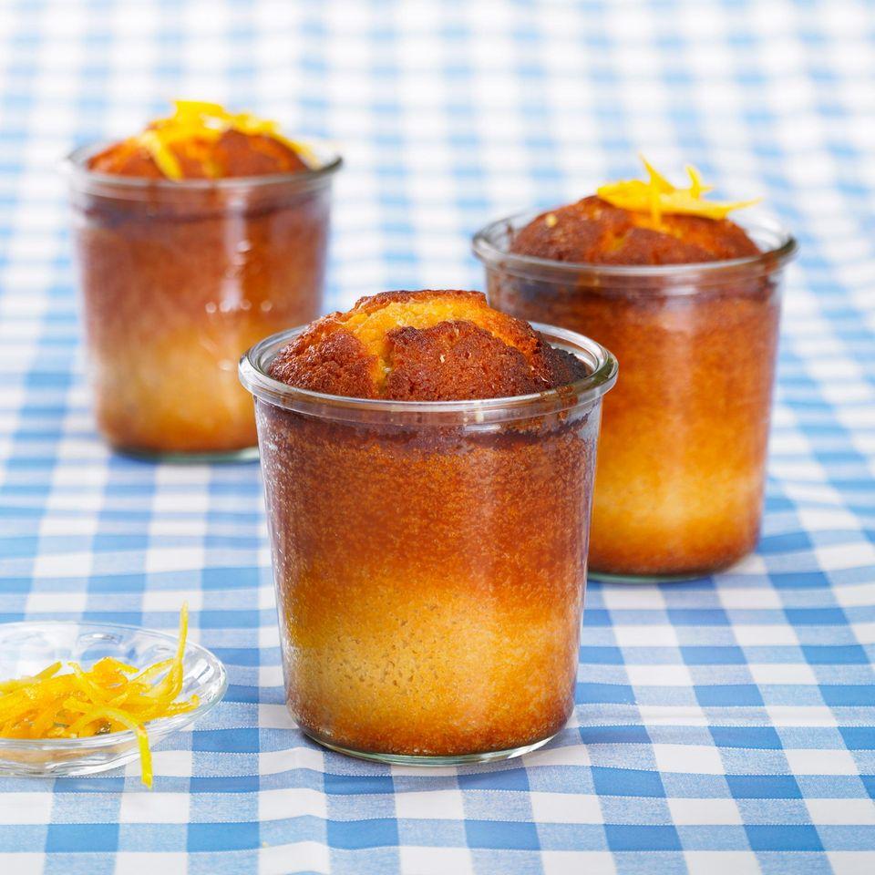 Glutenfreier Zitronenkuchen im Glas
