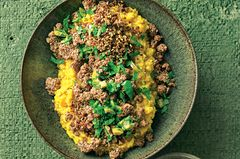 Kürbis-Linsen-Hummus mit Tatar