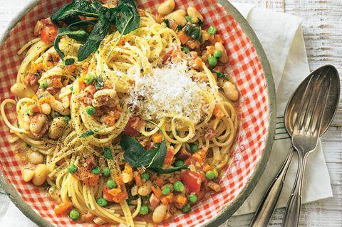 Pasta e fagioli (Pasta mit Bohnen)