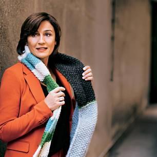 """Sandra Maischberger, Franziska Giffey & Co. für """"Ein Schal fürs Leben"""": Sandra Maischberger"""