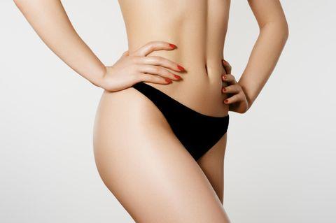 Winter Vagina: Unterkörper einer Frau