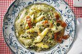 Spargel-Risotto mit knusprigem Pancetta