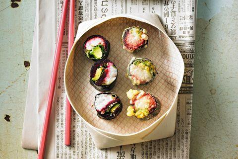 Sushi mit Roter Bete & Avocado