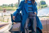 Wintermantel für Damen: Trendteile von 2019: Blauer Mantel:Blauer Mantel