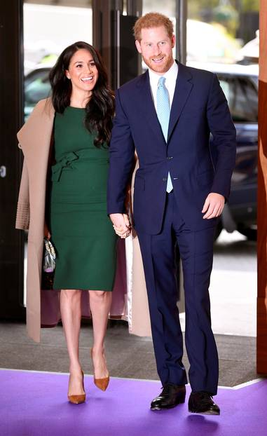 Meghan Markle: Meghan mit Prinz Harry im grünen Kleid