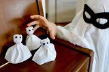 Halloween DIY für Kinder - 4 Anleitungen: Gespenster