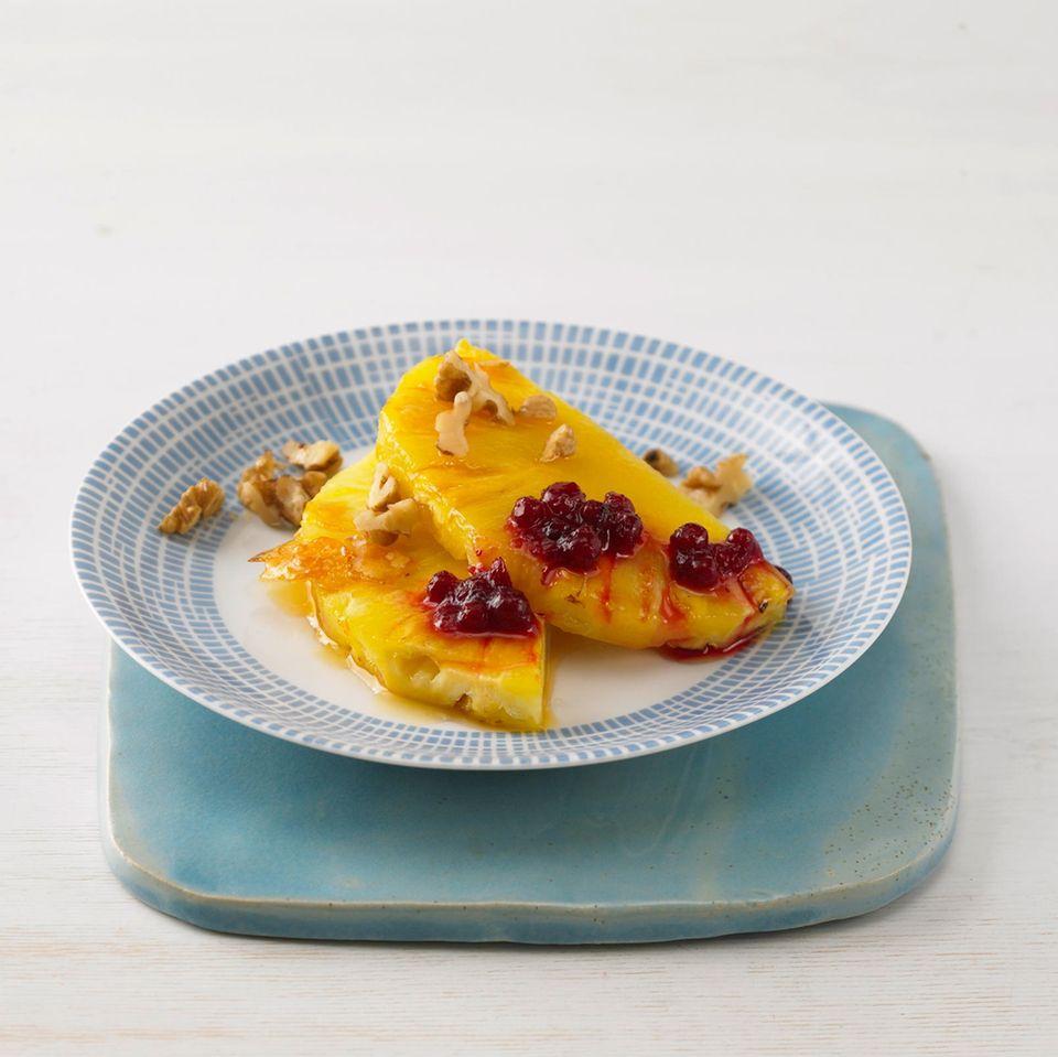 Karamellisierte Ananas