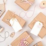 Geschenkanhänger basteln: Geschenke mit Geschenkanhängern